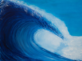 Painting of a very large wave
