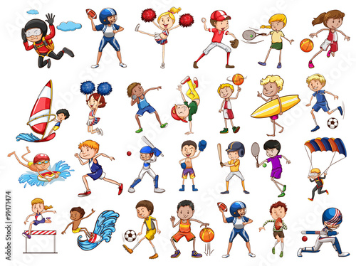 """Deportes Diferentes Deportes: """"People Practicing Different Sports"""" Stock Image And"""