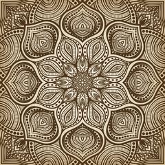 mandala. brown circular pattern background