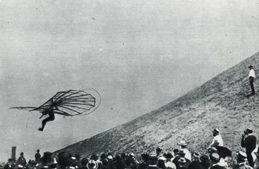 Otto Lilienthal gliding (1895)