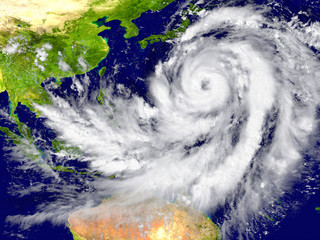 Hurricane north of Australia