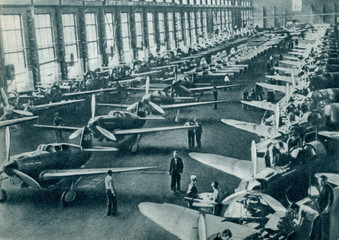Aircraft factory ca. 1943
