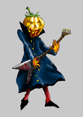 Illustration Halloween guitarist