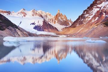 Cerro Torre, Patagonia, Argentina at sunrise