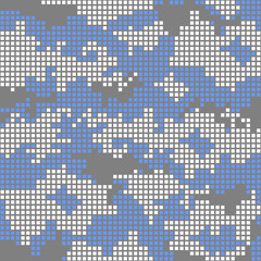 Urban camo pattern - blue pixels