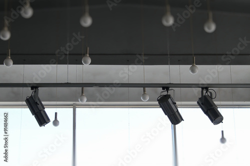 Lighting Devices Round Ceiling Lamps On Wires And Track