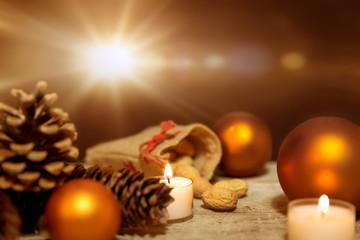 Bronze oder Kupfer Weihnachts Dekoration