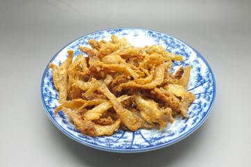 Crispy deep fried dried fish