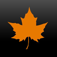 Silhouette of the maple leaf. Canadian symbol. Vector