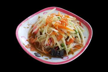 Papaya salad, Thai spicy food