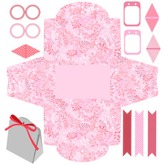 Gift box template  party set