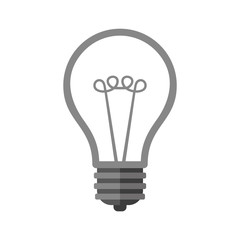 Bulb Icon on White Background. Vector