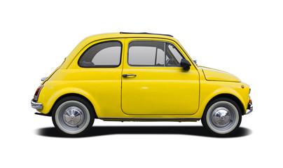 Classic Italian supermini car isolated on white
