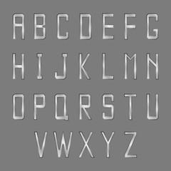 Vector steel font