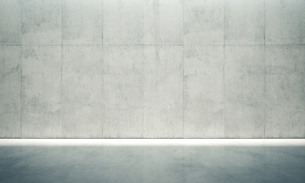 Blank space interior wall. 3d render