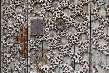 Details of the door of a church