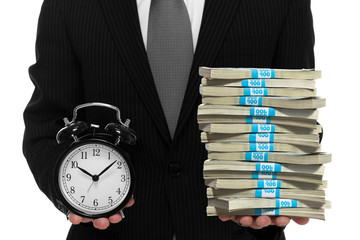 Businessman concept of time is money