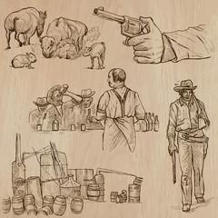 Wild West - Hand drawn vector pack