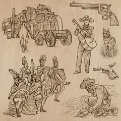 Wild West - Hand drawn vector pack