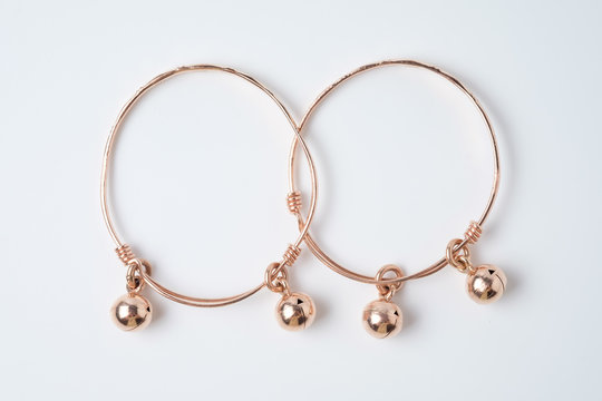 pink gold anklet for baby