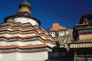 Kumbum or Tashigomang pagoda-Pelkhor Chode monastery. Gyantse-Tibet. 1632