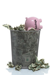 throwing your savings away