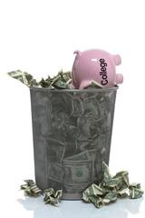 Throwing your college savings away