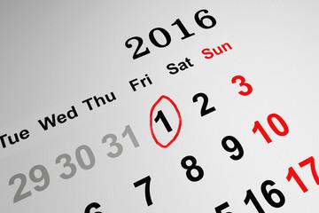 2016 concept with Calendar