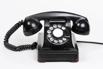 Vintage Black Rotary Telephone