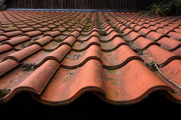 Old tiled roof.