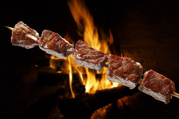 Printed kitchen splashbacks Grill / Barbecue barbecue on a stick