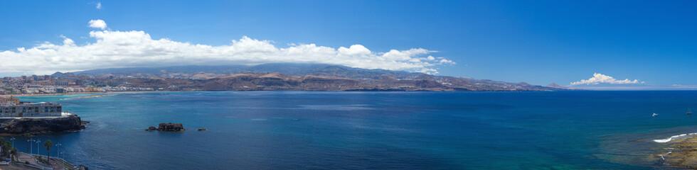 Gran Canaria, panorama from La Isleta, Las Palmas, El Confital b