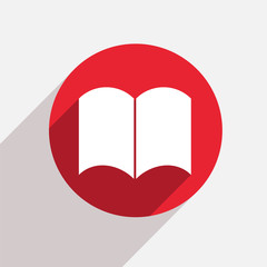 Vector modern book red circle icon