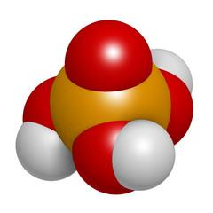 Phosphoric acid mineral acid molecule.