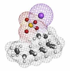 Sodium dodecyl sulfate (SDS, sodium lauryl sulfate) surfactant