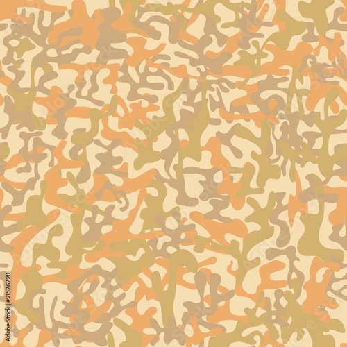Seamless Desert Storm Military Camouflage Pattern