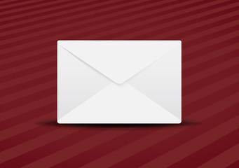 plain envelope red background