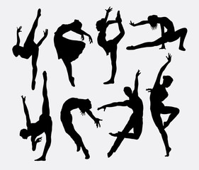 Dancer male and female silhouettes
