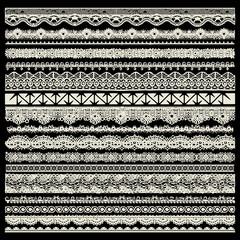 vector set of lace trims