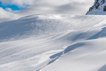 Schweizer Skipiste am Aletschgletscher
