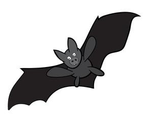 Vector Halloween bat cartoon. Illustration isolated on white background