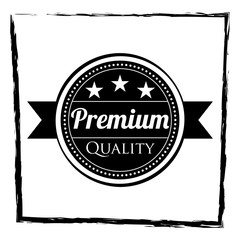premium label design with black and white color suitable for branding your product