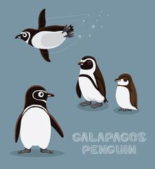 Galapagos Penguin Cartoon Vector Illustration