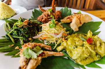 Delicious Asian Platter in Penang, Malaysia