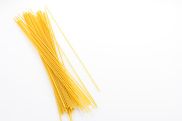 dry pasta isolated on a white Wall mural