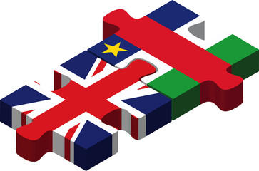 United Kingdom and Central African Republic Flags