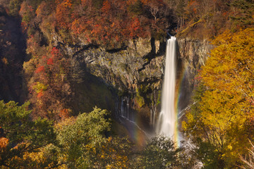 Kegon Falls near Nikko, Japan in autumn