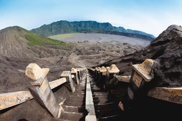stairway Mount Bromo Volcano, East Java