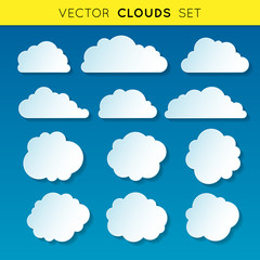 Vector clouds set 1