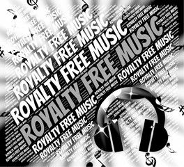 Royalty Free Music Means Sound Track And Rf